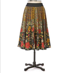 Anthro Viola Floral Guest Suite Circle Skirt 8